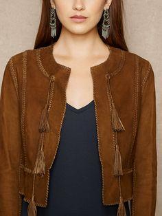 Whipstitched Jacket Nubuck - Chaquetas Mujeres - RalphLauren.com 48c64231ab4