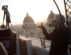 Cara Delevingne Gets Up On Roman Rooftops With Karl Lagerfeld For Fendi.