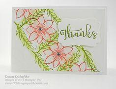 Hawaiian Thanks Card - October 2015 Paper Pumpkin