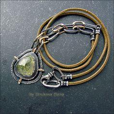 Strukova Elena - авторские украшения - Ожерелье с гроссуляром