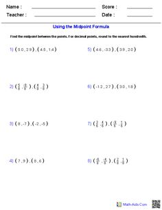 Printables Distance Formula Worksheet using the distance formula geometry pinterest and midpoint formula