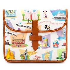 Retro Disneyland iPad Case by Dooney & Bourke | Disney StoreRetro Disneyland iPad Case by Dooney & Bourke - Revisit halcyon days at The Happiest Place on Earth with our Retro Disneyland iPad Case by Dooney & Bourke. Charming illustrations on this fine fashion accessory feature favorite characters, logos and icons from Disney's original kingdom.