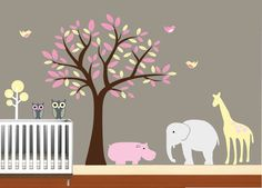 Tree Decal Wal Decals Nursery StickersChildren by NurseryWallArt, $99.99