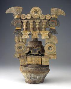 Ceramic Guatemalan incense burner, Tiquisate region, circa 300-600