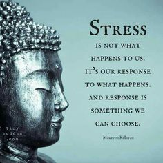 Stress is not what happens to us. It's our response to what happens. And response is something we can choose. ~ Maureen Killoran