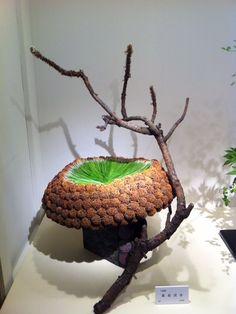 ikebana, pine :: Found on ameblo.jp