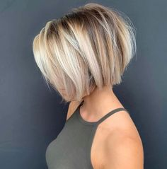 Inspiring Short Balayage Bob Haircuts for Women 2019 Inspirierende kurze Balayage Nice Short Haircuts, Bob Haircuts For Women, Hairstyles Haircuts, Layered Hairstyles, Hairstyles Videos, Choppy Bob Haircuts, Indian Hairstyles, Blonde Bob Hairstyles, Blonde Highlights Bob Haircut