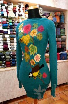 Платье Осенние листья handmade