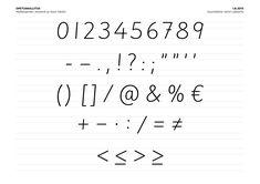 Mallikirjaimet ja -numerot sekä muut merkit