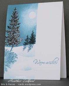 Beautiful card. Lovely as a tree.