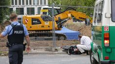 """Police are guarding the site and say the unexploded bomb poses """"no danger"""" to residents."""