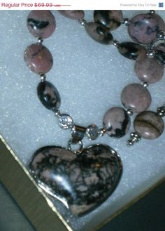 Great Deals Now 925 Sterling silver Pink Rhodonite by dsmenagerie