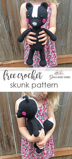 Quick and easy free crochet skunk pattern! – Grace and Yarn Quick and easy free crochet skunk pattern! – Grace and Yarn Crochet Patterns For Beginners, Easy Crochet Patterns, Crochet Patterns Amigurumi, Crochet Designs, Crochet Dolls, Crochet Yarn, Crochet Cow, Crochet Octopus, Crochet Things