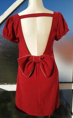 Robe rouge avec noeud la halle