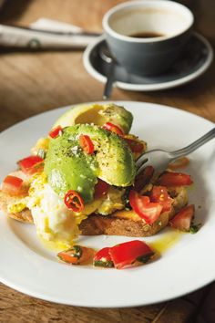 Eggs with avocado at The Fumbally, Dublin, Ireland. Photo: Lydia Evans