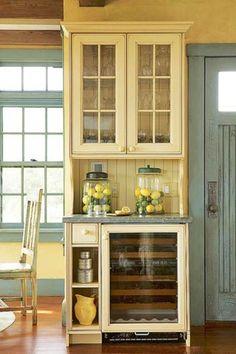 Home bar with wine fridge