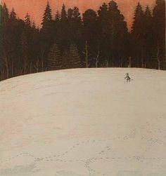 Väinö Rouvinen (1932-) - Iltarusko Dream Fantasy, Scandinavian Art, Winter Landscape, Finland, Denmark, Norway, Glow, Artwork, Painters