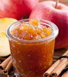 This apple cinnamon jam recipe has a wonderful apple flavor and is delicious with the added spices. Apple Cinnamon Jam Recipe from Grandmothers Kitchen. Jelly Recipes, Jam Recipes, Canning Recipes, Apple Recipes, Apple Cinnamon Jam, Apple Jam, Chile Picante, Homemade Jelly, Canned Food Storage