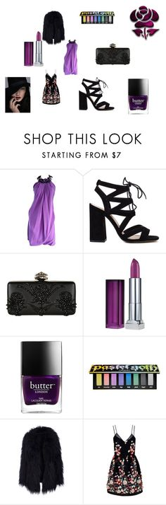 """""""Lovedress"""" by durnee on Polyvore featuring Pamella Roland, Alexander McQueen, Maybelline, Butter London, Kat Von D and The 2nd Skin Co."""