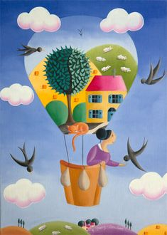 Obraz: Elisabeth Davy-Bouttier - La maison ballon
