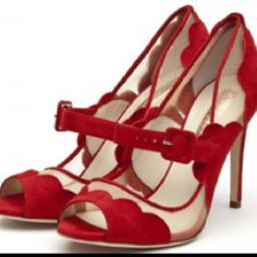 red   touch of vintage with a load of sexy. Red mary jane stilettos