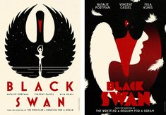 La Boca's illustrative and typographical take on Black Swan movie posters #poster #blackswan