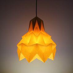 Luminária Pendente Hope - Amarela - Dobrarte Origami