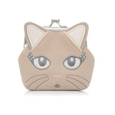 Stone Kitty Cat Clip Frame Coin Purse ($6.12) ❤ liked on Polyvore featuring bags, wallets, stone, cat coin purse, cat bag, change purse, change purse wallet and cat wallet