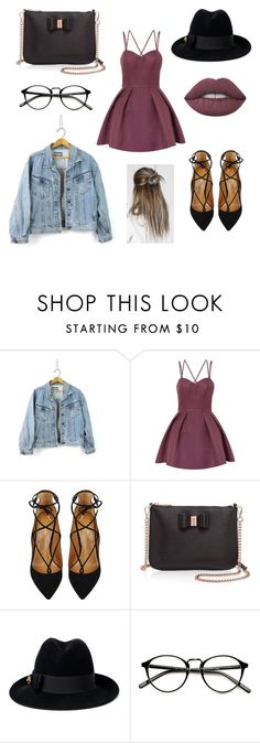 """""""Teddy bear 🐻"""" by ruby-eliza-lewis ❤ liked on Polyvore featuring Chi Chi, Aquazzura, Ted Baker, Gucci and Lime Crime"""