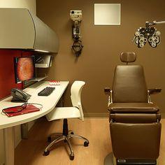 Modern eye exam room officedecor interior architecture for St louis interior design firms