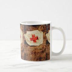 WW2 nurse hat. Army medical corps Coffee Mug