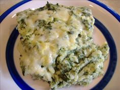 Kittencal's Spinach Parmesan Rice Bake. Photo by Tasty Tidbits