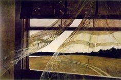 Andrew Wyeth   (it is so amazing what he did with watercolor to make the lace curtains!)