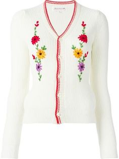 1c2367d9410 Comme Des Garçons Girl flower embroidered cardigan Top Reviews Best Reviews