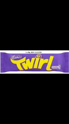 Twirl - 43g bar. 11.5 syns