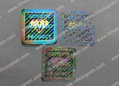 2D 3D Holographic Labels and Secure Hologram Sticker