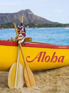 Travel Photography - Aloha Outrigger on Waikiki Beach Hawaii . See Aloha Hawaii, Hawaii Travel, Hawaii Life, Islas Cook, Outrigger Canoe, Waikiki Beach, Hawaiian Islands, Island Life, Kauai