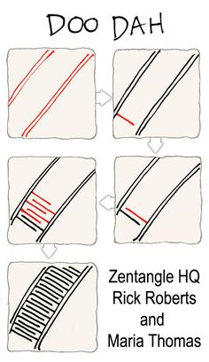 New Tangle from Zentangle HQYou can find Tangle patterns and more on our website.New Tangle from Zentangle HQ Doodles Zentangles, Tangle Doodle, Zentangle Drawings, Doodle Drawings, Doodle Art, Easy Zentangle Patterns, Zen Doodle Patterns, Cool Patterns To Draw, Zantangle Art