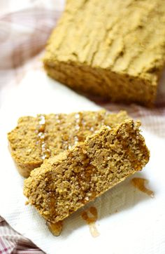 Buckwheat Pumpkin Cornbread   Strength and Sunshine @RebeccaGF666 Take your cornbread to the next level with a healthy twist of adding pumpkin and buckwheat flour! This Buckwheat Pumpkin Cornbread recipe is comfort food to warm every gluten-free and vegan soul without sacrificing taste!