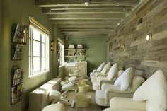 Pedicure Treatment Room by Martin Brudnizki Design Studio | Cowshed Spa, Miami
