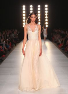 My wedding dress #2 The Aurora Gown on the runway at LMFF.