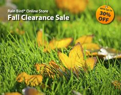 Fall has arrived, and with it, amazing offers on a variety of Rain Bird products. Start shopping today and save up to 30% throughout the store on sprinklers, timers, valves, drip irrigation, replacement parts & more! And, as always, Rain Bird offers FREE SHIPPING on orders over $99. store.rainbird.com #sprinklers #savewater #flowers #garden #landscape #irrigation