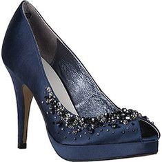 53848e8801 wedding shoes? Navy Wedding Shoes, Bridal Shoes, Blue Wedding, Types Of  Heels