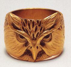 Lucien Gaillard Owl Ring