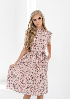 """Color Me Pink Floral Ruffle Dress use my code """"mirnagisselle10"""" at checkout to receive 10% off"""