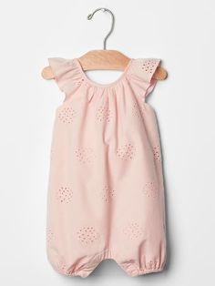 Eyelet flutter one-piece