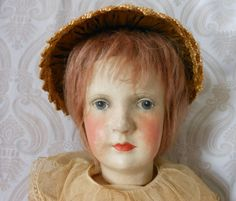 Dora Petzold Composition and Cloth Character Doll: Removed Composition, The Past, Crochet Hats, Dolls, Artist, Character, Clothes, Antique Dolls, Knitting Hats
