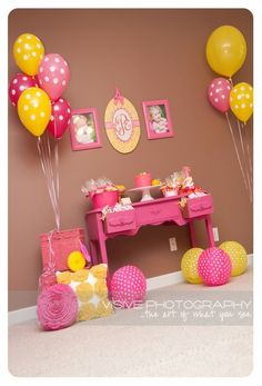 Pink Lemonade Birthday Party... furniture can be used as part of decor by Kendra_367
