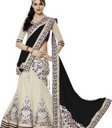 Buy Black georgette embroidered unstitched lehenga-choli ghagra-choli online