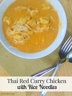Who here loves Trader Joe's? It's my favorite place to grocery shop! I used a several Trader Joe's products to create this Thai Red Curry Chicken with Rice Noodles. It's a simple, flavorful dish th...